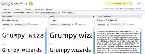 リンク先【Google Web Fonts】のイメージ画像