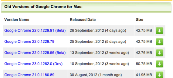 Old Version of Google Chrome for Mac Download - OldApps.com