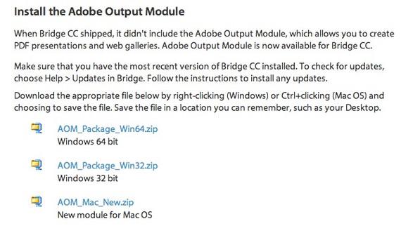 Install Adobe Output Module