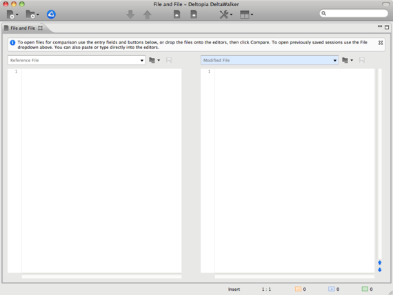 DeltaWalker for Mac OS X: Compare/Merge Files, Synchronize Folders; Two and Three-Way