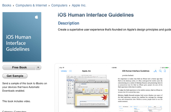 【iTunes - Books - iOS Human Interface Guidelines by Apple Inc.】