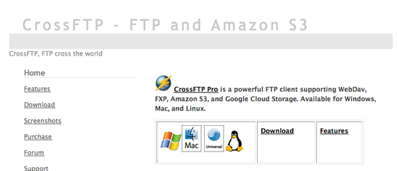 CrossFTP - FTP and Amazon S3 Client