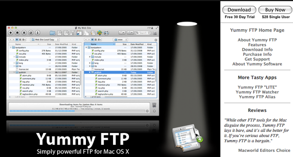 Yummy Software™ » Mac OS X FTP & SFTP client software at its best