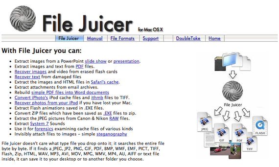 File Juicer - Extract images from PDF, PowerPoint, Word, Excel and other Files on Mac OS X