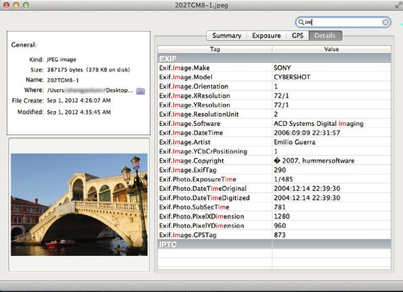 Image Metadata | hummersoftware